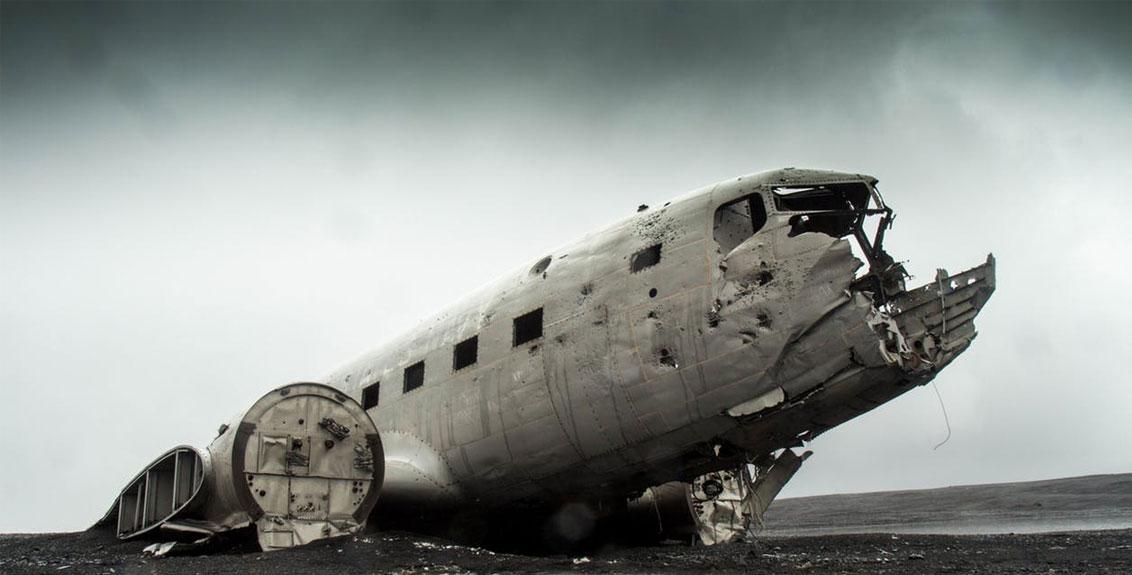 Fighter Plane Crash During World War